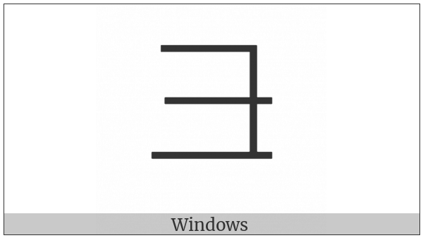 Cjk Radical Snout Two on various operating systems