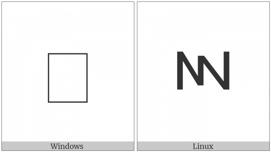 Greek Vocal Notation Symbol-11 on various operating systems