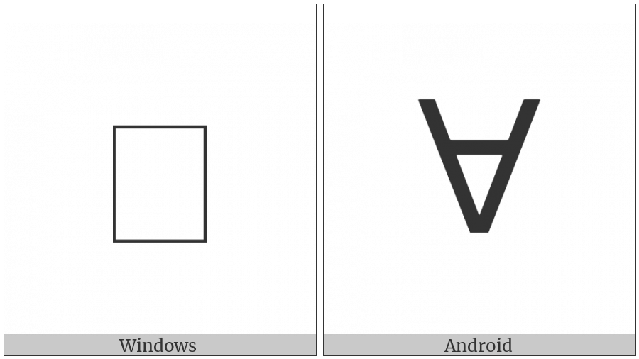 Greek Vocal Notation Symbol-24 on various operating systems