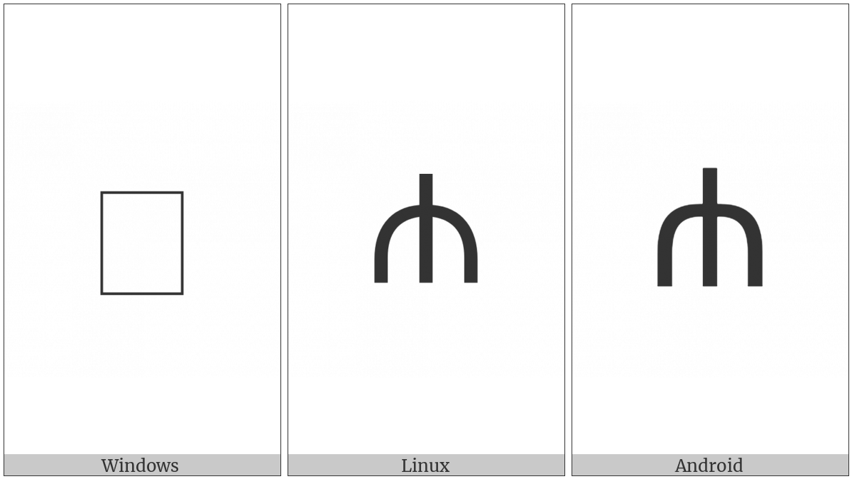 Greek Vocal Notation Symbol-50 on various operating systems