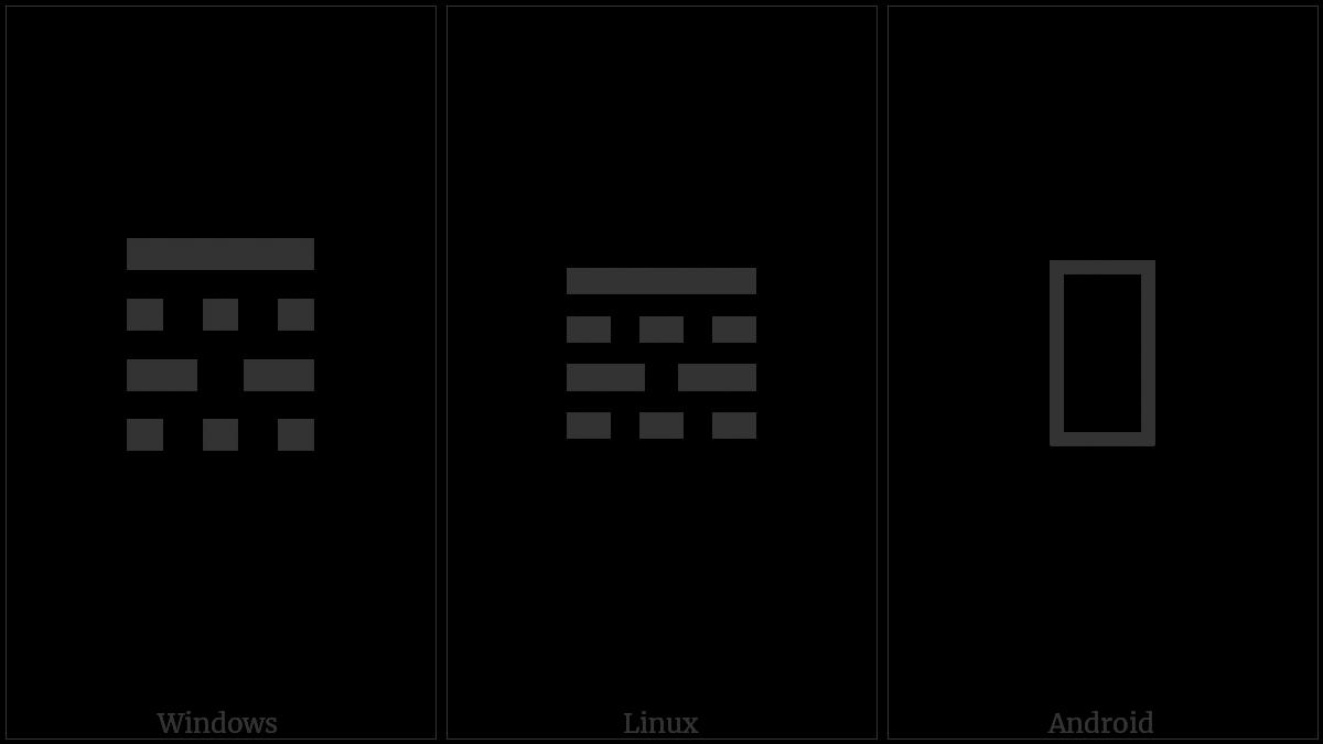 𝌝 (TETRAGRAM FOR JOY) UTF-8 character | UTF-8 Icons