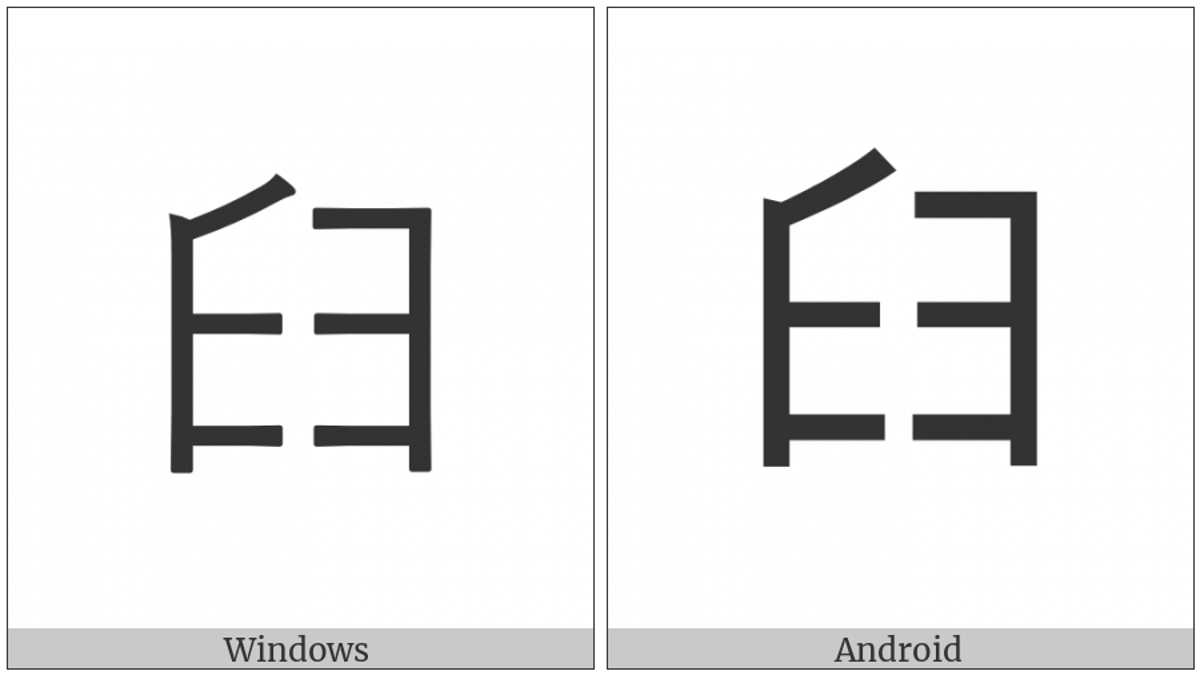 Cjk Radical Mortar on various operating systems