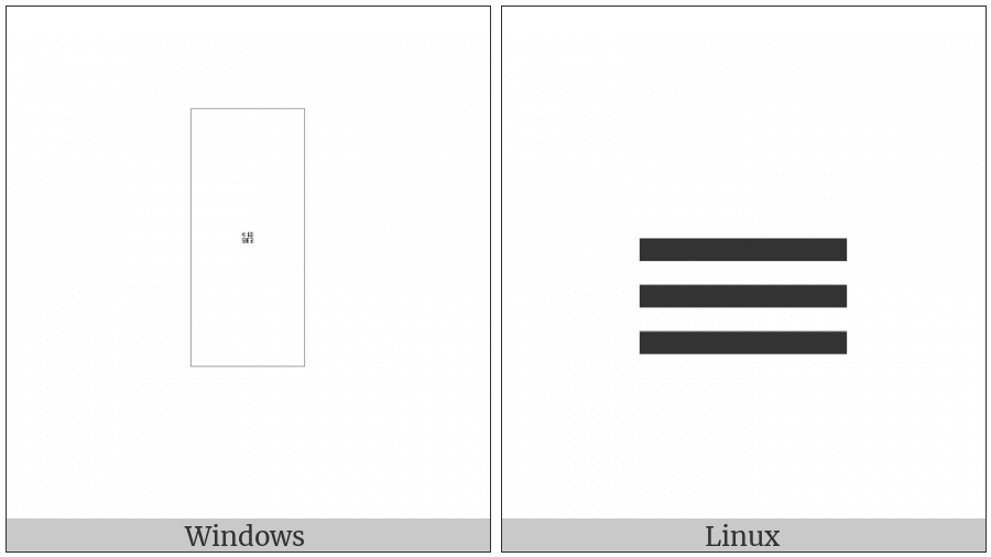 Counting Rod Unit Digit Three on various operating systems