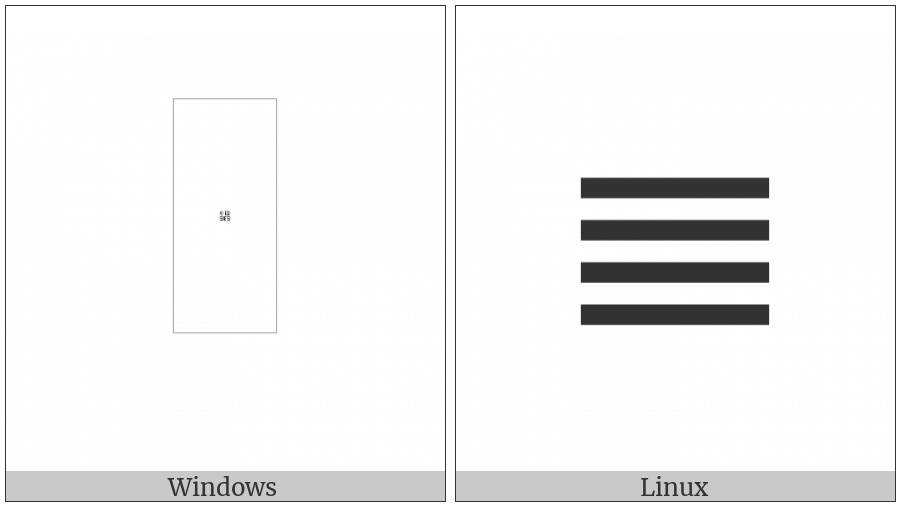 Counting Rod Unit Digit Four on various operating systems
