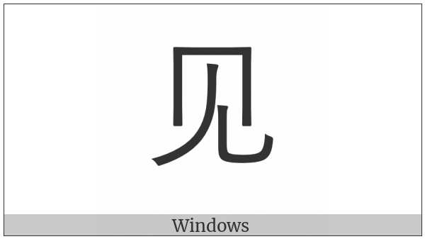 Cjk Radical C-Simplified See on various operating systems