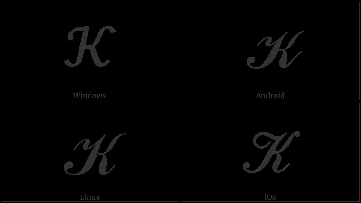 Mathematical Script Capital K Utf 8 Icons