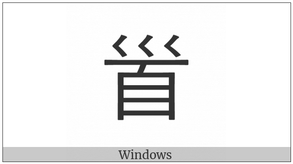 Cjk Radical Head on various operating systems