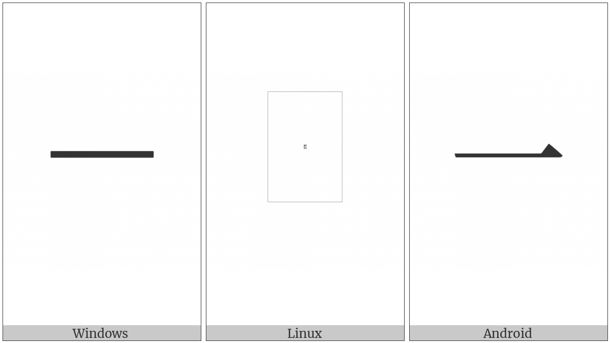 Kangxi Radical One on various operating systems