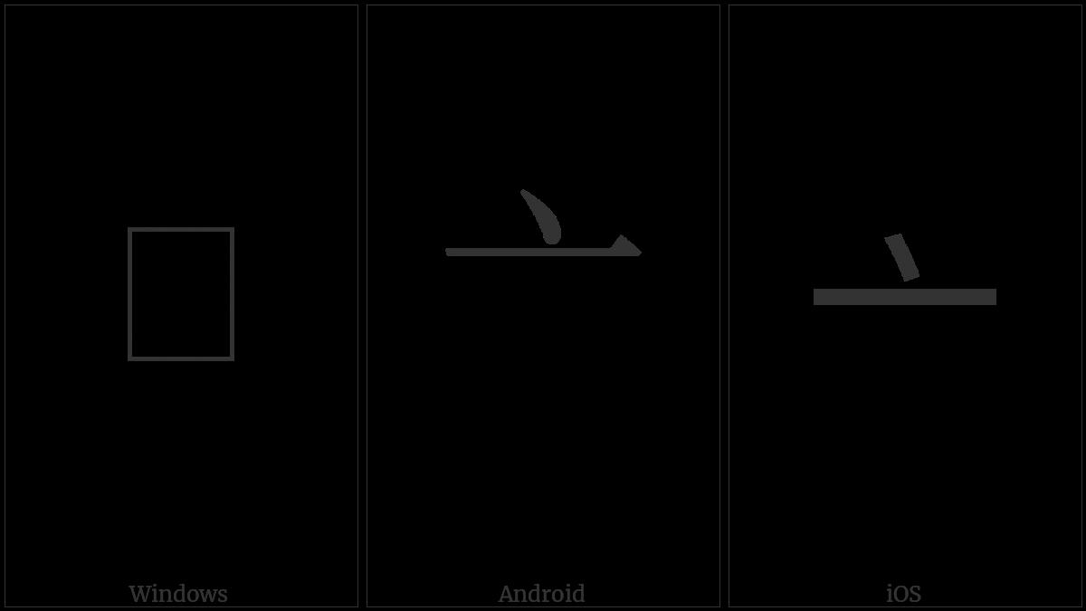 Kangxi Radical Lid on various operating systems