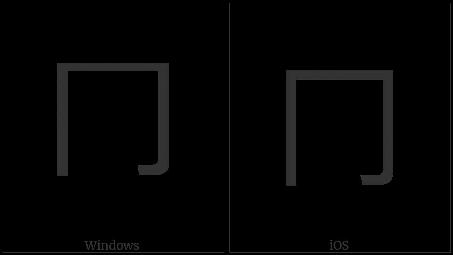 Kangxi Radical Down Box on various operating systems