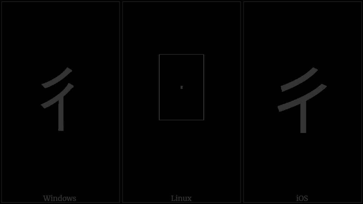 Kangxi Radical Step on various operating systems