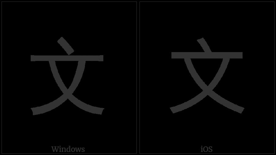 Kangxi Radical Script on various operating systems