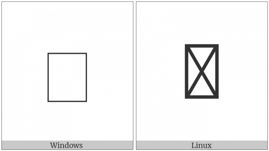 Kangxi Radical Square on various operating systems
