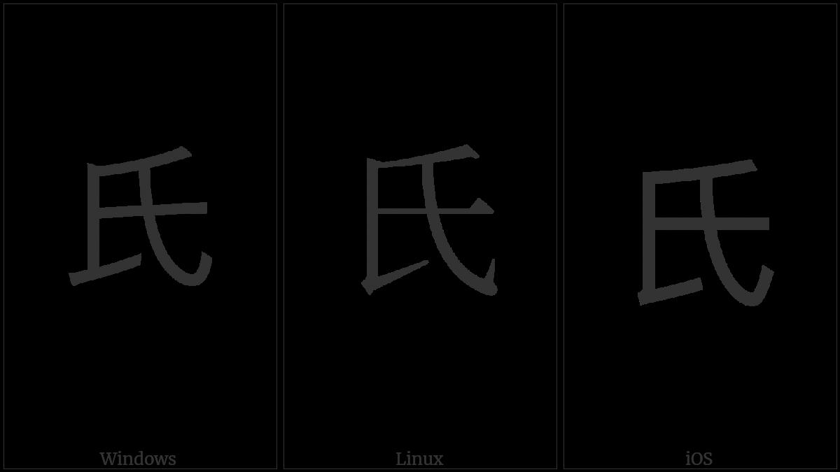 Kangxi Radical Clan on various operating systems