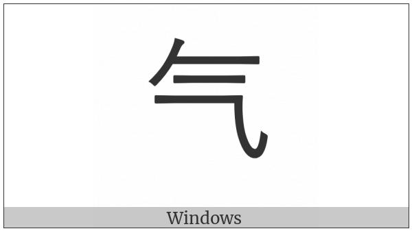 Kangxi Radical Steam on various operating systems