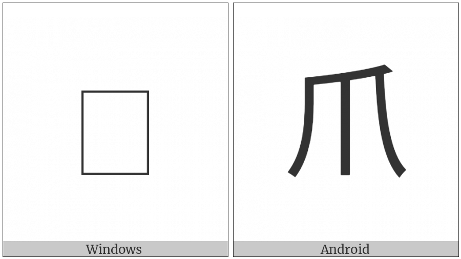 Kangxi Radical Claw on various operating systems