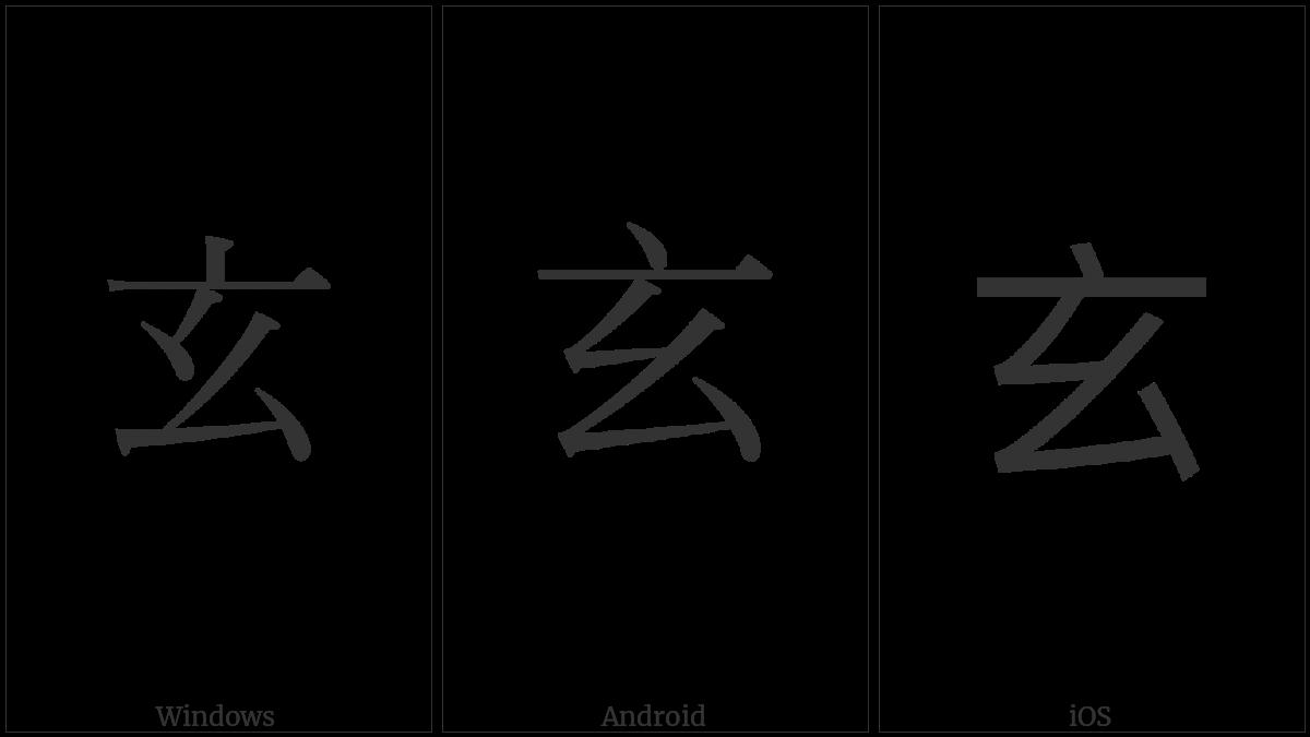 Kangxi Radical Profound on various operating systems