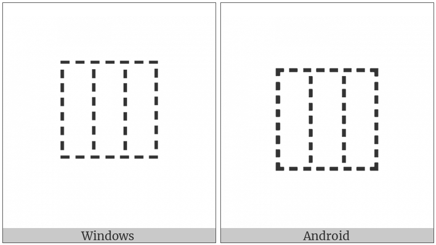 Ideographic Description Character Left To Middle And Right on various operating systems