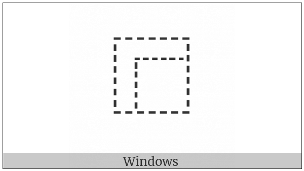 Ideographic Description Character Surround From Upper Left on various operating systems
