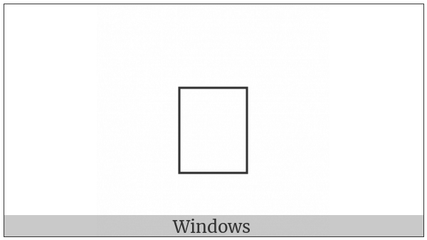 Combining Glagolitic Letter Zhivete on various operating systems