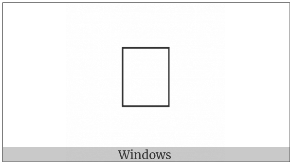 Combining Glagolitic Letter Sha on various operating systems