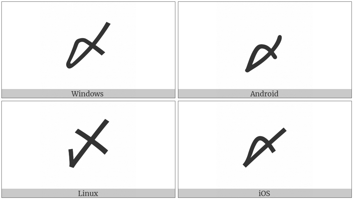 Ideographic Closing Mark on various operating systems