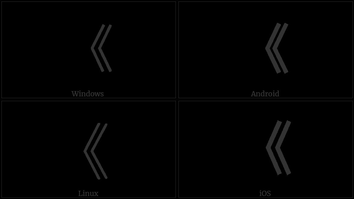 Left Double Angle Bracket Utf 8 Icons