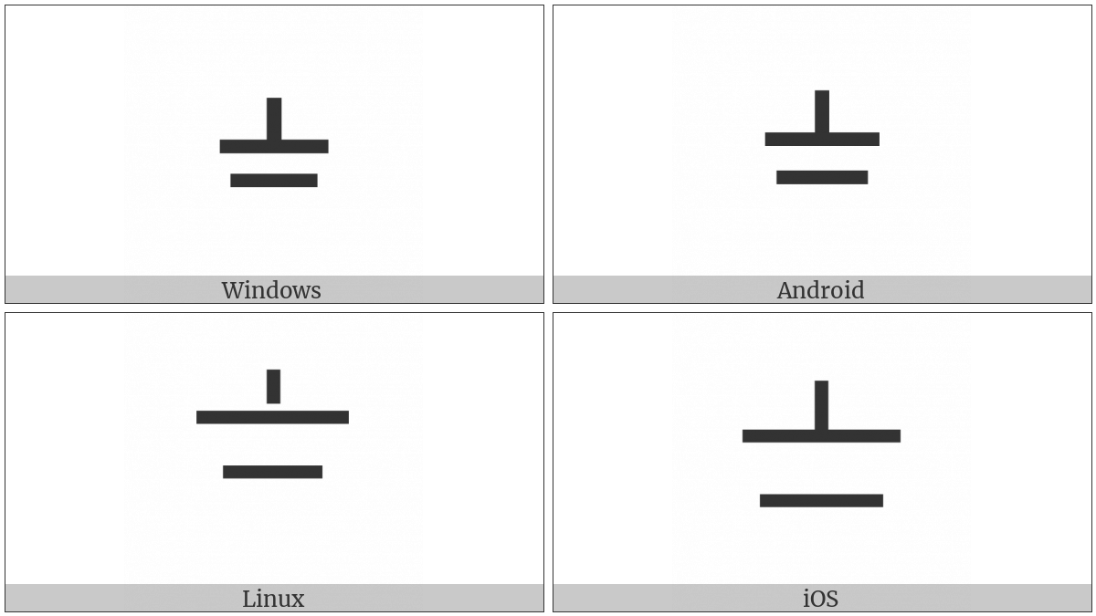 Hangzhou Numeral Seven on various operating systems