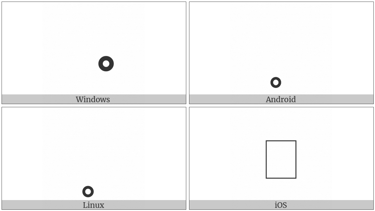 Ideographic Entering Tone Mark on various operating systems
