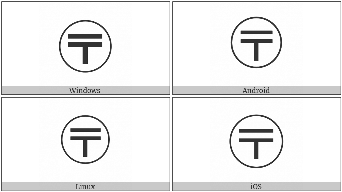 Circled Postal Mark on various operating systems