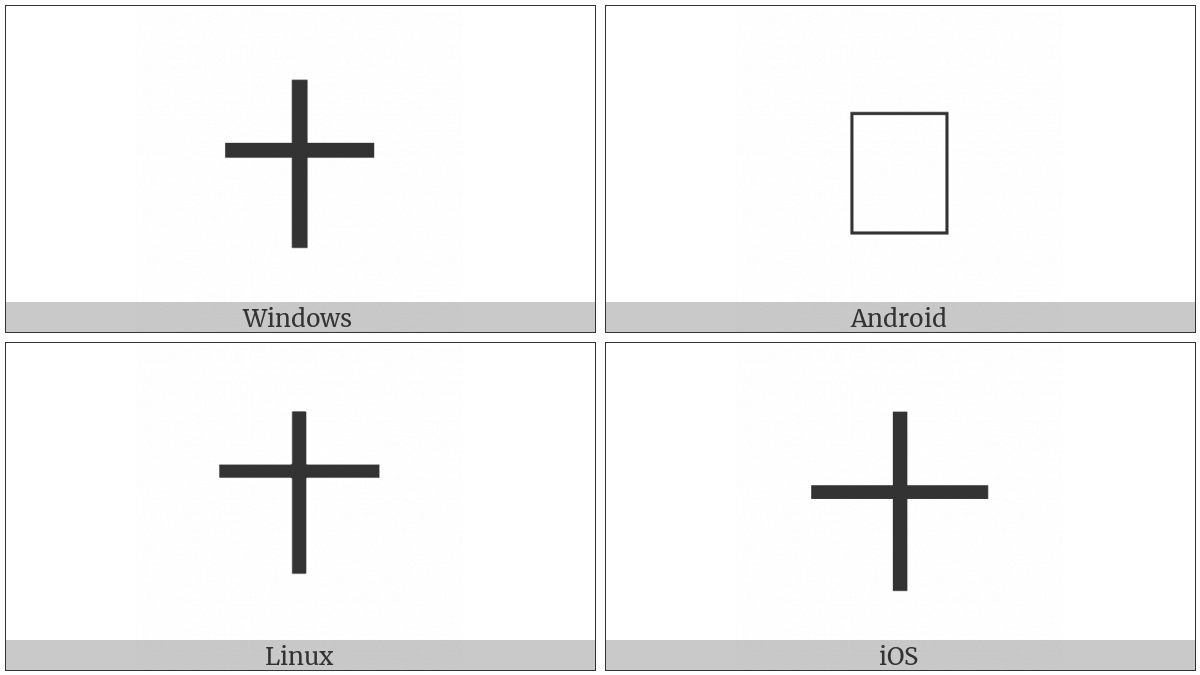 Hangzhou Numeral Ten on various operating systems