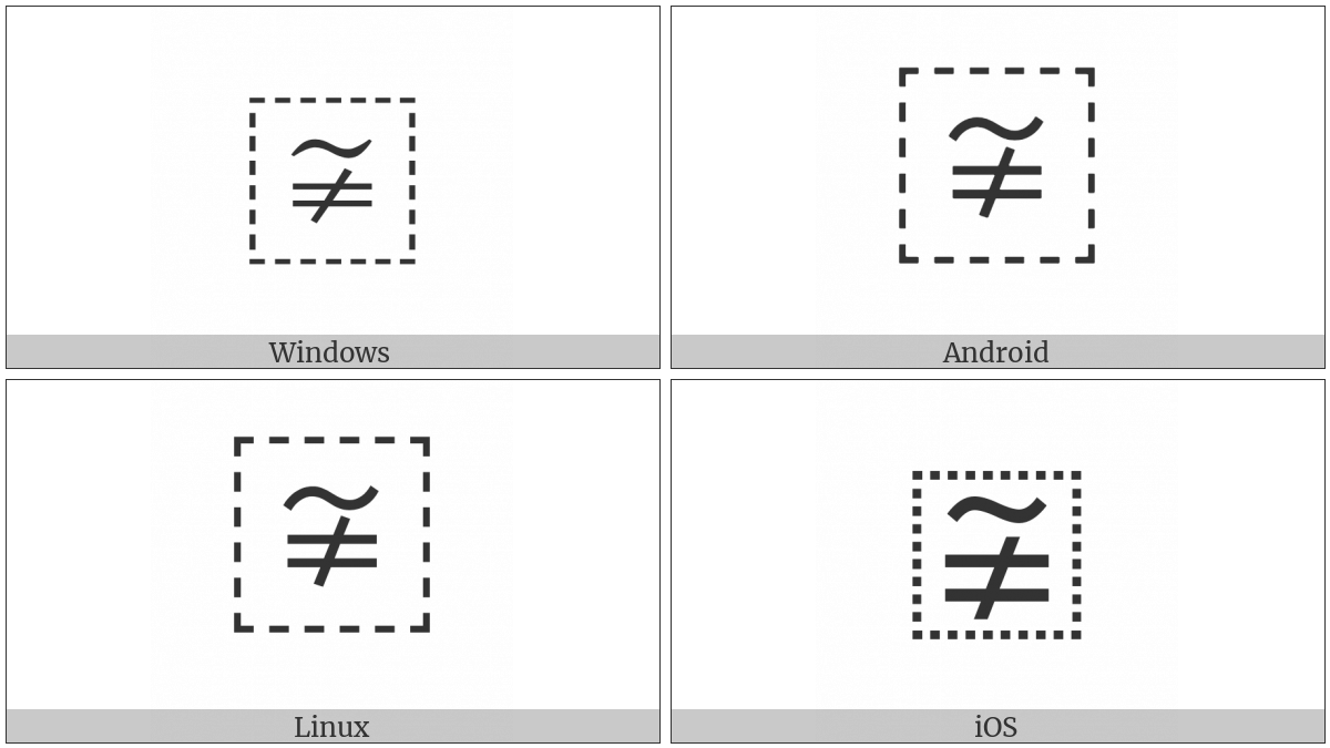 Ideographic Variation Indicator on various operating systems
