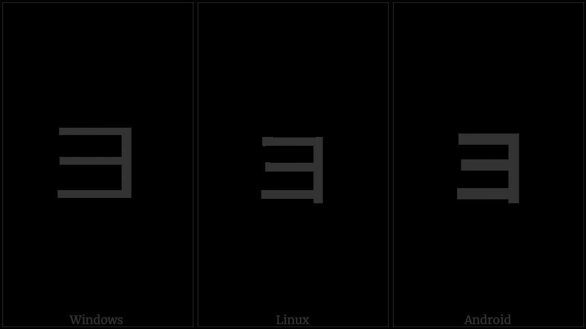 Katakana Letter Small Yo on various operating systems