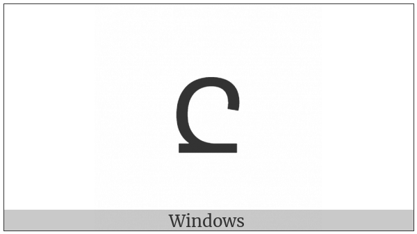 Adlam Small Letter O on various operating systems
