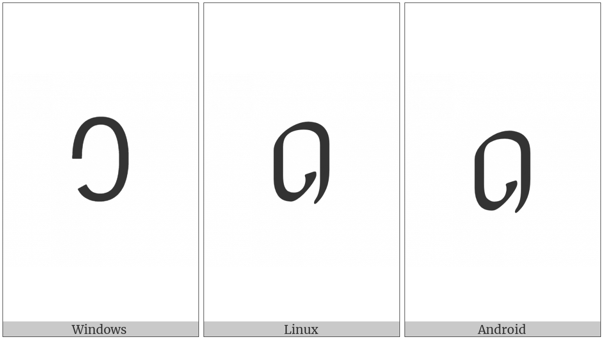 Adlam Digit Zero on various operating systems