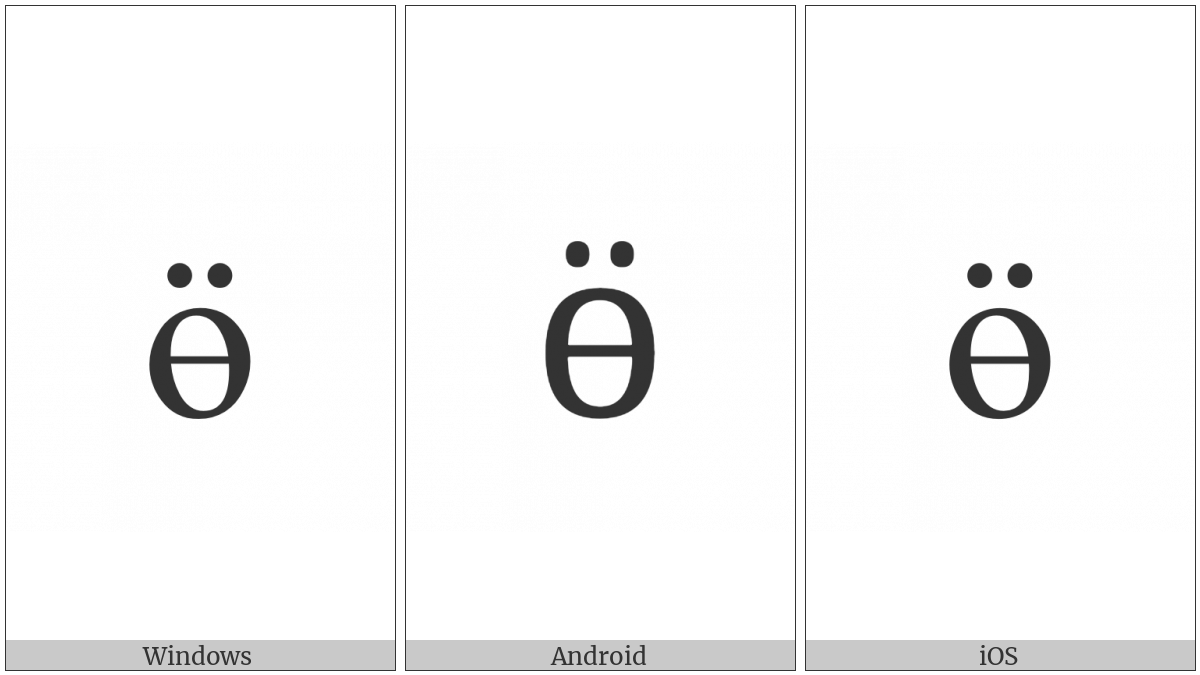 CYRILLIC SMALL LETTER BARRED O WITH DIAERESIS utf-8 character