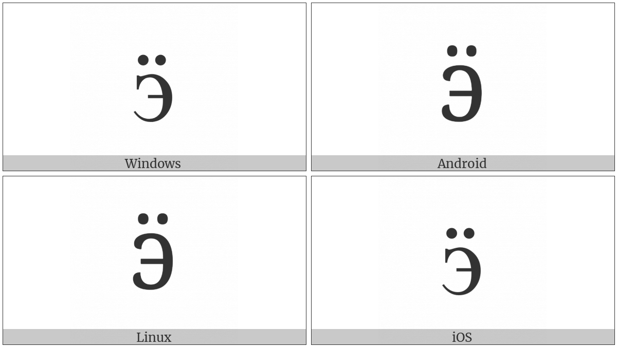 CYRILLIC SMALL LETTER E WITH DIAERESIS utf-8 character