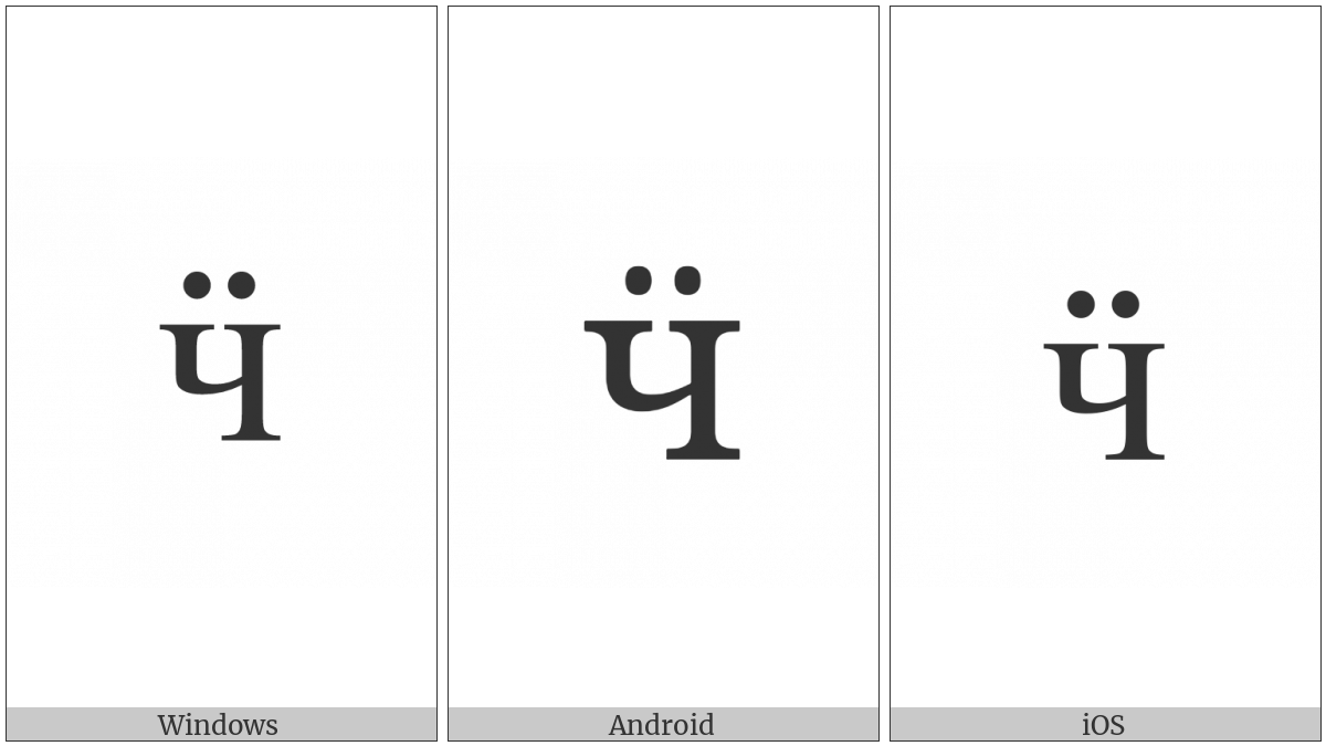 Cyrillic Small Letter Che With Diaeresis on various operating systems