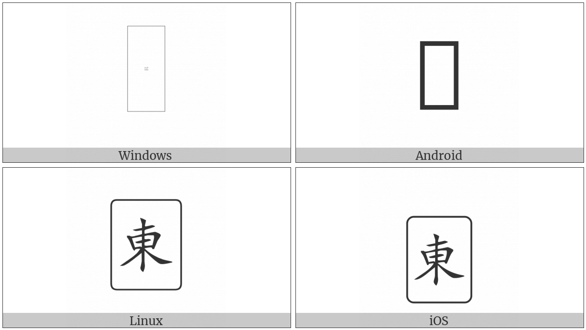 Mahjong Tile East Wind on various operating systems