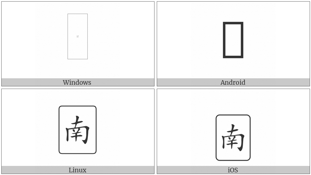 Mahjong Tile South Wind on various operating systems