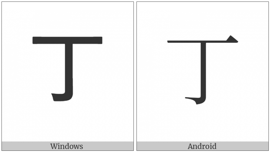 Ideographic Annotation Fourth Mark on various operating systems