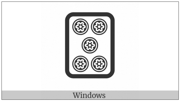 Mahjong Tile Five Of Circles on various operating systems