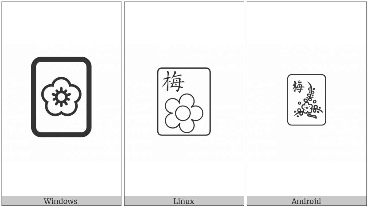 Mahjong Tile Plum on various operating systems