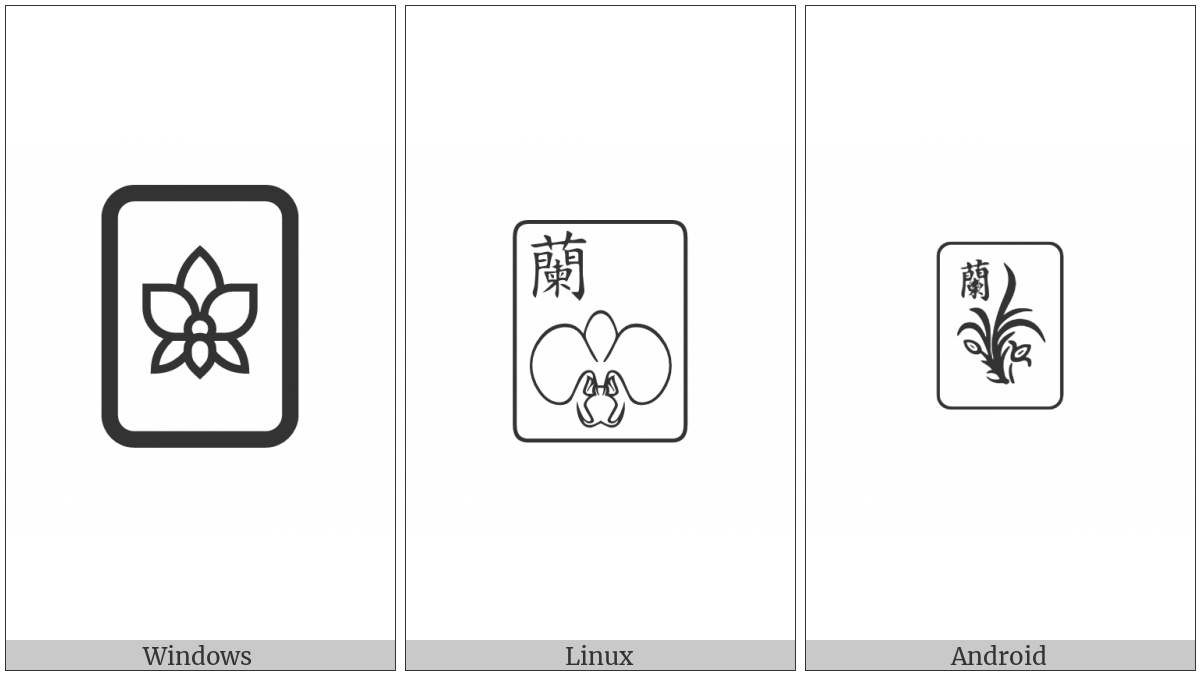 Mahjong Tile Orchid on various operating systems