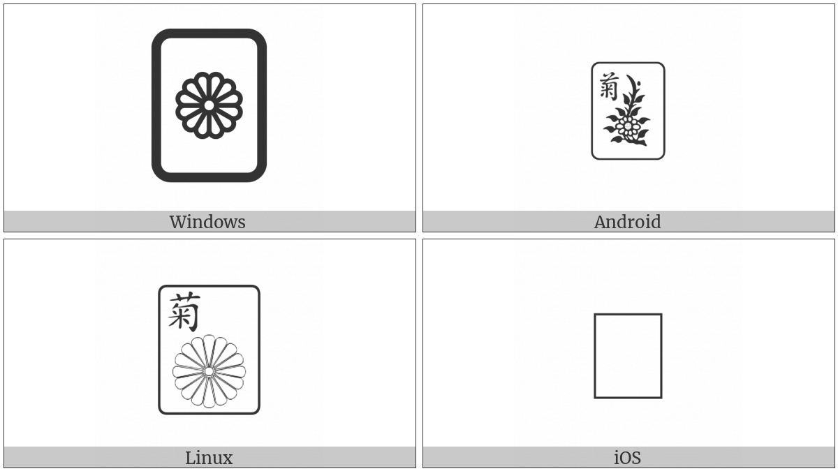 Mahjong Tile Chrysanthemum on various operating systems