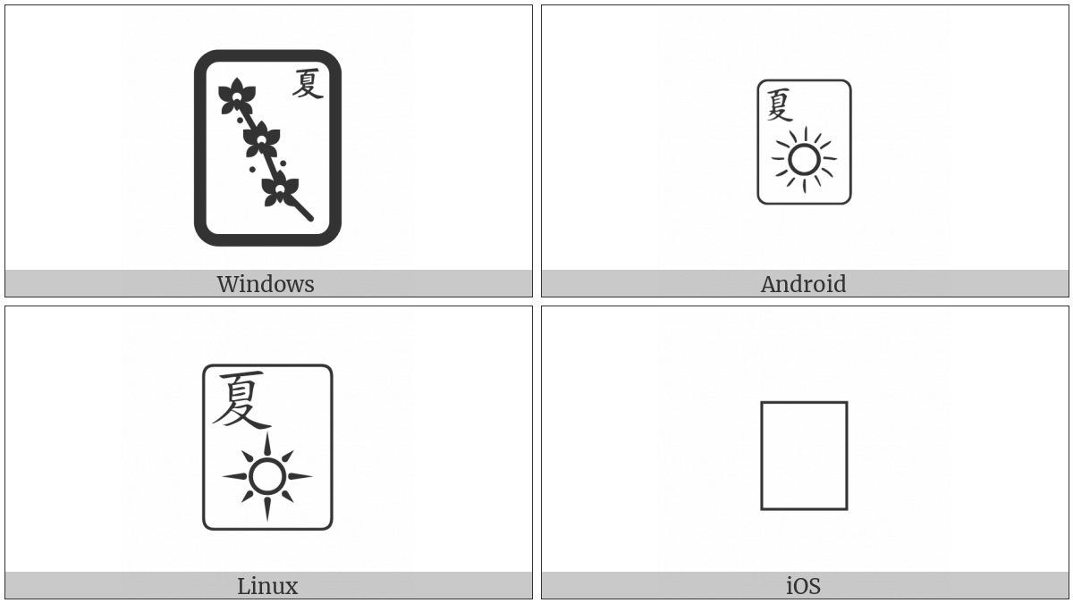 Mahjong Tile Summer on various operating systems