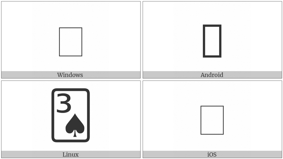 Playing Card Three Of Spades on various operating systems