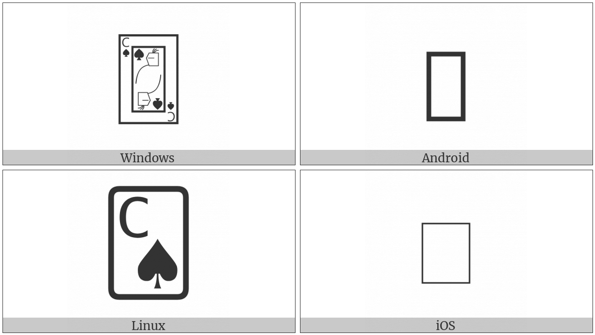Playing Card Knight Of Spades on various operating systems