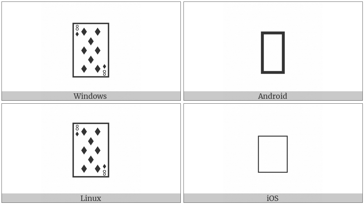 Playing Card Eight Of Diamonds on various operating systems
