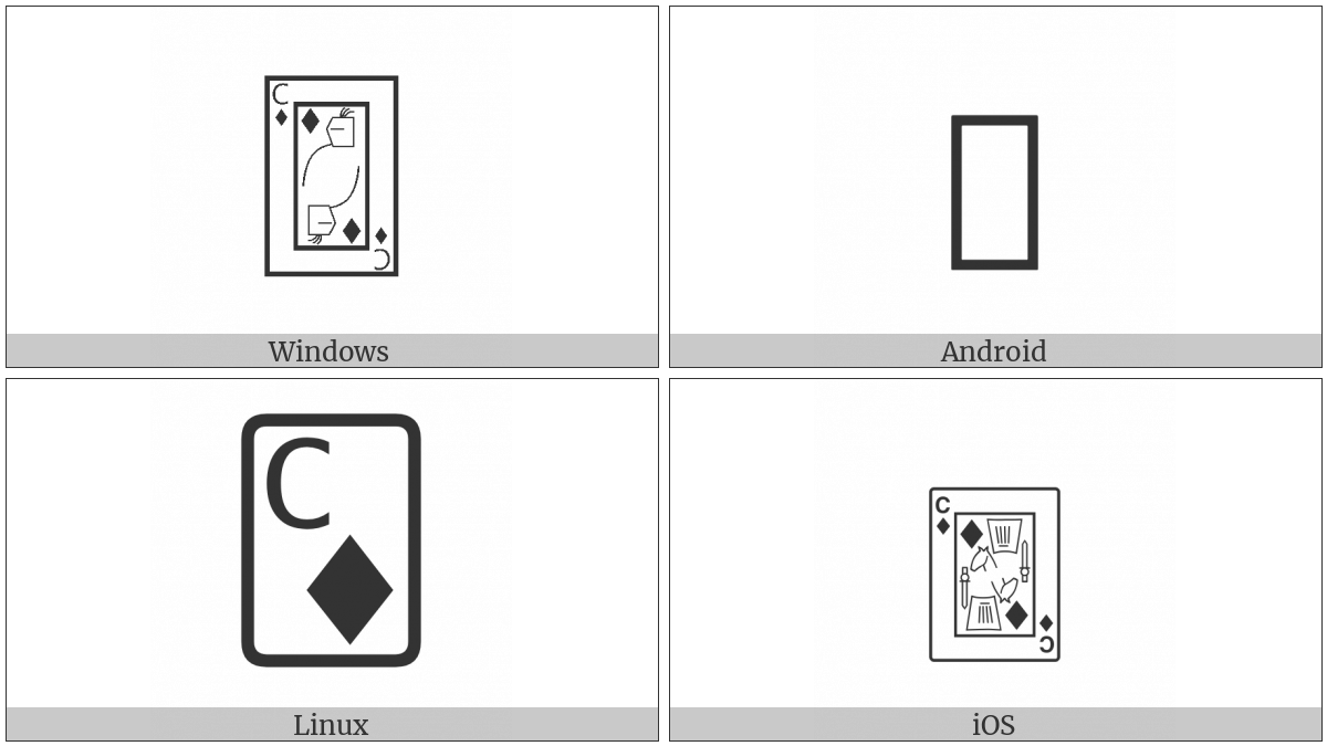 Playing Card Knight Of Diamonds on various operating systems